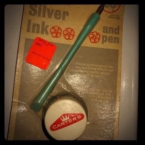 Vintage Carter's ink silver 1968 pen